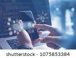 ai  artificial intelligence ...   Shutterstock . vector #1075853384