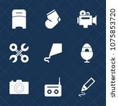premium set with fill icons.... | Shutterstock .eps vector #1075853720