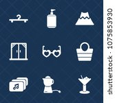 premium set with fill icons.... | Shutterstock .eps vector #1075853930