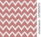 ethnic pink and white zig zag... | Shutterstock .eps vector #1075855073