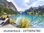 banff  canada   september 29 ...   Shutterstock . vector #1075856780