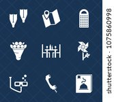 premium set with fill icons.... | Shutterstock .eps vector #1075860998