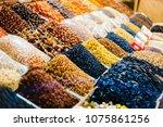 collection of various raisins....   Shutterstock . vector #1075861256