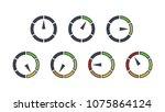 info graphic gauge elements.... | Shutterstock .eps vector #1075864124