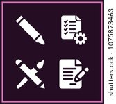 set of 4 pen filled icons such...