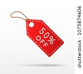 sale tag with 50  discount... | Shutterstock .eps vector #1075874606