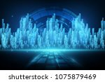 abstract background of digital... | Shutterstock .eps vector #1075879469