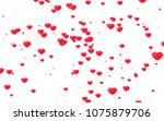 red and pink heart. valentine's ... | Shutterstock . vector #1075879706