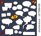 comic speech bubbles.... | Shutterstock .eps vector #107588438