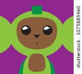 funny cartoon faces smileys | Shutterstock .eps vector #1075885460