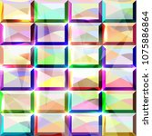 seamless multicolored diamond... | Shutterstock .eps vector #1075886864