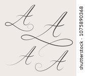 vector handwritten swirl... | Shutterstock .eps vector #1075890368