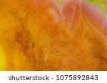 liquid color marbling paint... | Shutterstock . vector #1075892843