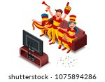 russia 2018 world cup  spanish... | Shutterstock .eps vector #1075894286