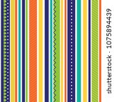 stripe pattern with bright color | Shutterstock .eps vector #1075894439