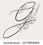 vector hand drawn flowered g... | Shutterstock .eps vector #1075896809