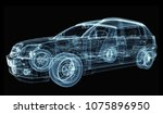 abstract car consisting of... | Shutterstock . vector #1075896950