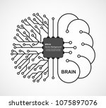 machine learning. artificial... | Shutterstock .eps vector #1075897076