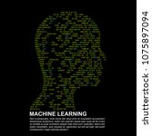 machine learning. artificial... | Shutterstock .eps vector #1075897094