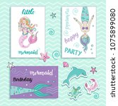 template card with beautiful... | Shutterstock .eps vector #1075899080