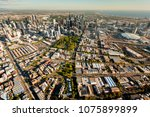 melbourne aerial skyline sunset | Shutterstock . vector #1075899899