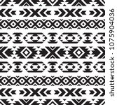 seamless tribal black and white ... | Shutterstock .eps vector #1075904036