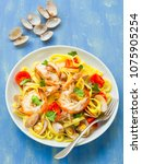 close up of a plate of rustic... | Shutterstock . vector #1075905254
