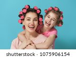 happy loving family. mother and ... | Shutterstock . vector #1075906154