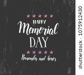 happy memorial day. national... | Shutterstock .eps vector #1075912430