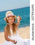 close up portrait of sweet girl ... | Shutterstock . vector #107591690