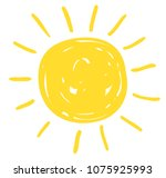 Simple Vector Sun Drawing In...