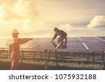 engineers operating and check...   Shutterstock . vector #1075932188
