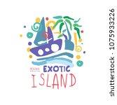 exotic island logo template...   Shutterstock .eps vector #1075933226
