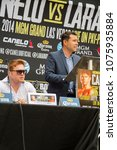 Small photo of San Antonio, Texas/United States - May 7, 2014: Canelo Alvarez-Erislandy Lara Press Conference for their fight in Las Vegas. Oscar De La Hoya with Canelo Alvarez.