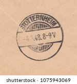 germany circa 1948 a stamp... | Shutterstock . vector #1075943069