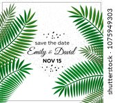 wedding invitation  modern card ... | Shutterstock .eps vector #1075949303