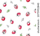 hand drawn seamless pattern.... | Shutterstock .eps vector #1075952840