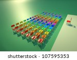 presentation room with colored... | Shutterstock . vector #107595353