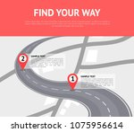 find your way concept with pin...