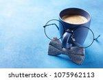 creative breakfast on happy... | Shutterstock . vector #1075962113