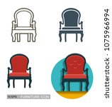 vector icons of the sofa.... | Shutterstock .eps vector #1075966994