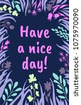 have a nice day postcard... | Shutterstock .eps vector #1075970090