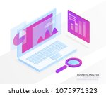 business analysis system ... | Shutterstock .eps vector #1075971323