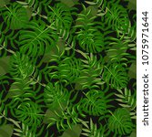 tropical pattern palm summer...   Shutterstock .eps vector #1075971644