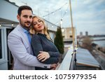 shot of a affectionate couple... | Shutterstock . vector #1075979354
