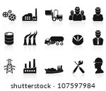 black industry icons set | Shutterstock .eps vector #107597984