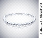 realistic pearl beads on... | Shutterstock .eps vector #1075983650