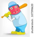 funny monster | Shutterstock .eps vector #107598620