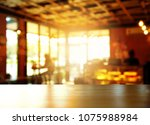 interior top of wood table in... | Shutterstock . vector #1075988984