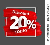 grey discount 20  sale... | Shutterstock .eps vector #1075991594